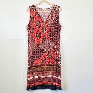HAANI Woman Colorful Print Sleeveless Dress Sz: 1X